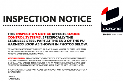 IMPORTANT INSPECTION NOTICE