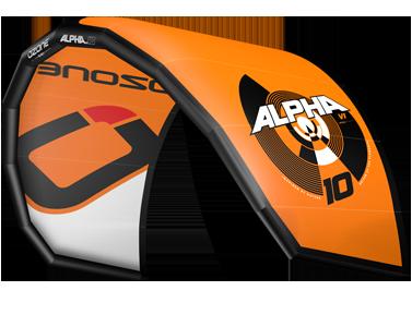 Ozone Alpha Kitesurfing Kites Orange