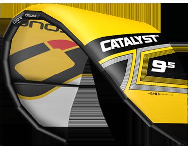 Ozone Catalyst V2 Kitesurfing Kites Yellow
